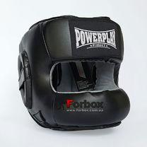 Шолом боксерський Power Play з бампером PU + Amara (3067, чорний)