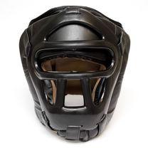 Шлем с пластиковым забралом Reyguard кожа черный