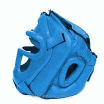 Шлем с пластиковым забралом Reyguard кожа синий