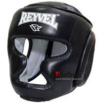 Шлем тренировочный REYVEL кожа (0084-bk, черный)