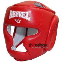 Шлем тренировочный REYVEL кожа (0084-rd, красный)