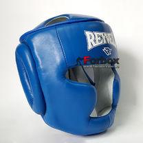 УЦЕНКА Шлем REYVEL тренировочный кожа синий размер Л (внешнее повреждение кожи)