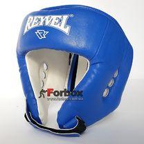 Шлем боксерский REYVEL вид 1 винил (0109-bl, синий)