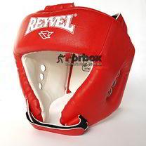 Шлем боксерский REYVEL вид 1 винил (0109-rd, красный)