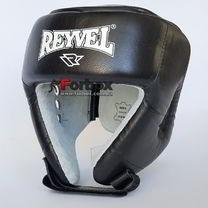 Шлем REYVEL для соревнований с закрытым верхом из натуральной кожи (0115-bk, черный)