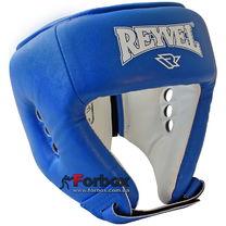 Шлем боксерский вид 2 REYVEL винил (0121-bl, синий)