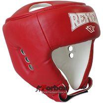 Шлем боксерский вид 2 REYVEL винил (0121-rd, красный)