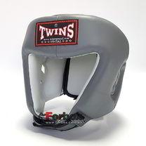 Шлем TWINS из натуральной кожи с усиленной защитой макушки (HGL-4-GR, серый)