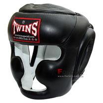 Тренировочный шлем Twins кожа (HGL-6, черный)