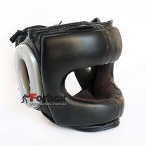 Шлем боксерский с бампером кожаный Velo (BO-6636-BK, черный)