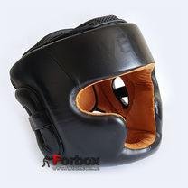 Шлем тренировочный Venum кожаный с полной защитой (BO-5239, черный)