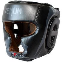Шолом Venum з повним захистом Flex (BO-5339-BK, чорний)