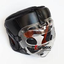 Шолом для єдиноборств з пластиковою маскою Venum (VL-8348-BK, чорний)