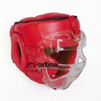 Шлем для единоборств с пластиковой маской Venum (VL-8348-R, красный)