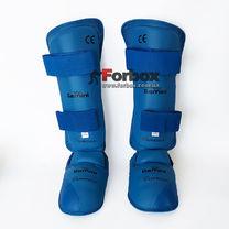 Защита голени и стопы Gemini для каратэ (GKZ-BL, синий)