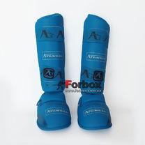 Защита голени и стопы Arawaza для каратэ (BO-7249-BL-repl, синяя)