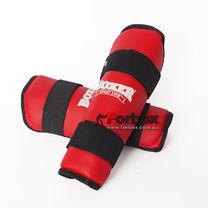 Защита голени Boxer из кожзаменителя (2003-01, красная)