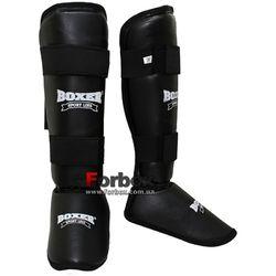 Защита голени и стопы Boxer Элит кожвинил (2004-01Ч, черная)