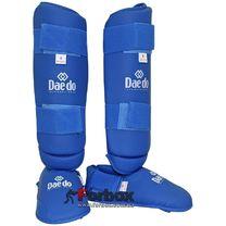 Защита голени и стопы Daedo для каратэ (BO-5074-B, синяя)