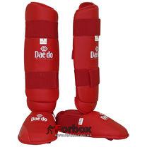 Защита голени и стопы Daedo для каратэ (BO-5074-R, красный)
