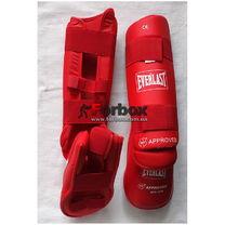 Уцінка Захист гомілки та стопи Everlast для карате WKF (BO-3958-RD, червона) розмір S потертості зверху