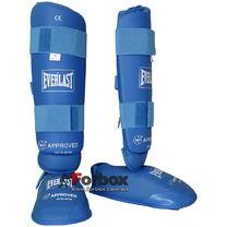 Защита голени и стопы Everlast для каратэ (BO-3958, синяя)