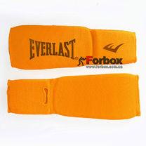 Защита голени и стопы чулочного типа Everlast тканевая (MA-8136-OR, оранжевая)