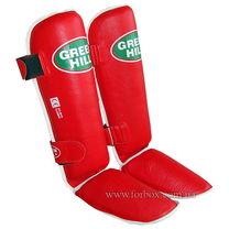 Захист гомілки та стопи Green Hill Classic із шкіри (SIC-0019, червона)