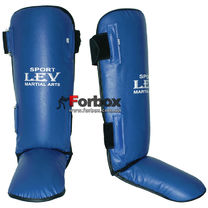 Защита голени и стопы улучшенная цельная Lev (1313-bl, синяя)