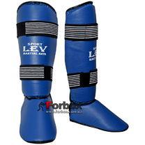 Защита голени и стопы цельная Lev (1354-bl, синяя)