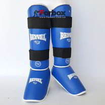 Защита голени и стопы винил REYVEL (0142-bl, синяя)