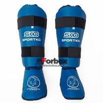 Защита голени и стопы SportKo (331-bl, синяя)