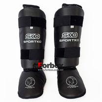 Защита голени и стопы SportKo (331-bk, черная)