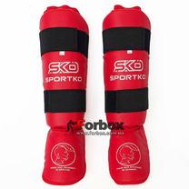Защита голени и стопы SportKo (331-rd, красная)