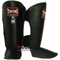 Защита голени и стопы Twins кожа (SGL-2, черная)