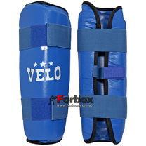 Защита голени Velo из натуральной кожи (VL-8105, синяя)