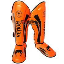 Защита голени и стопы Venum Flex (VL-5243-OR, оранжевая)