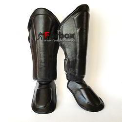 Защита для голени и стопы Venum Elite из натуральной кожи (VL-5749-BK, черный)