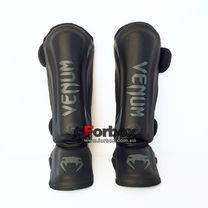 Защита голени и стопы Venum PU усиленная (BO-8356-BK, черный)