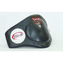 Защита туловища пояс тренера Twins из натуральной кожи (BEPL-2-BK, черный)