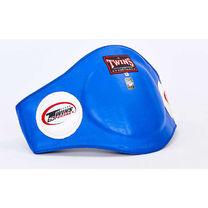 Защита туловища пояс тренера Twins из натуральной кожи (BEPL-2-BU, синий)
