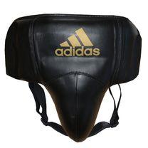 Профессиональная защита паха Adidas из PU кожи (ADISBP11, черно-золотая)