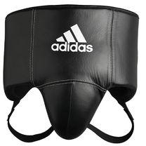 Профессиональная защита области паха Adidas Pro из натуральной кожи (ADIBP11, черная)