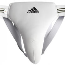 Защита паха мужская Adidas (ADIBP05, белая)