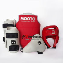 Набор экипировки для тхэквондо детский Mooto (BO-0509, красный)