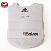 Защитный жилет для карате с аккредитацией WKF Adidas (adip03, белый)