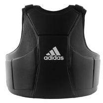 Профессиональная тренерская защита туловища Adidas из PU кожи (ADIP04, черный)