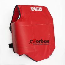 Защитный жилет односторонний для единоборств Sportko (334, красный)