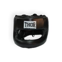 Шлем боксерский с бампером Nose Protection кожа THOR (707-Leather-BLK, Черный)